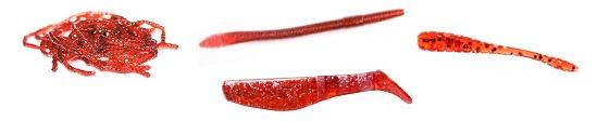 Красный цвет приманок