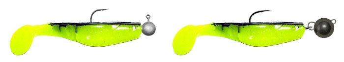 Монтаж виброхвоста на джиг головке и на шарнире с одинарным крючком