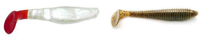Виброхвост-рыбка, виброхвост с телом червя