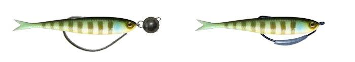 Монтаж силиконовых рыбок на офсетных крючках