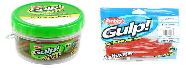 Berkley Gulp Alive Sandworm и Nereis упаковка