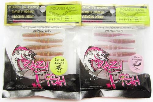 Пачки со съедобным силиконом Crazy Fish Polaris