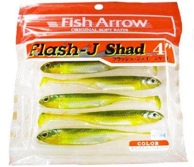 Пачка рыбок Fish Arrow Flash J Shad 4""