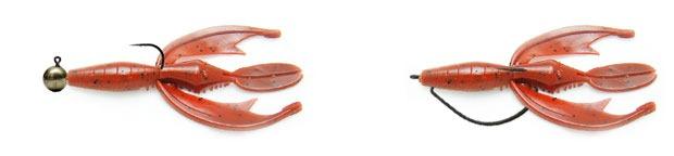 Монтаж силиконовых раков Molix Vindex Craw
