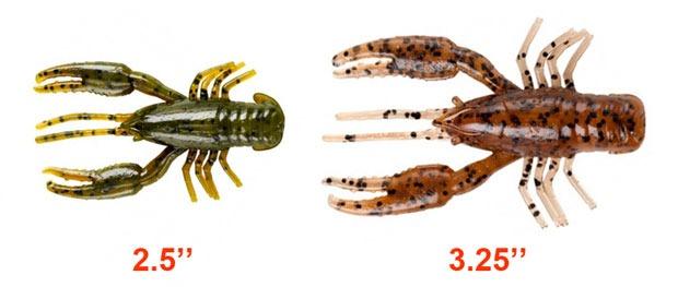 Размеры рачков YUM Crawbug