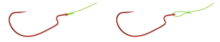 Варианты привязки крючка в каролинской оснастке