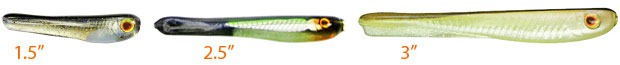 "Jackall Super Cross Tail Shad - 1.5"", 2.5"", 3"""