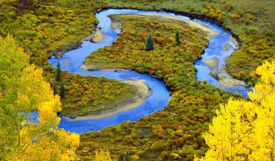 Резкие перепады глубин на реке