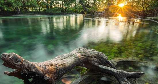 Закоряженные места на реке
