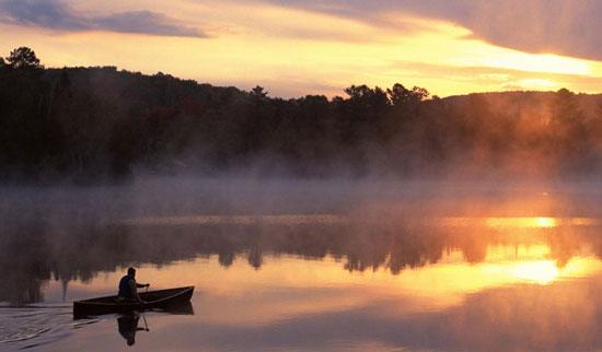 Рыбалка на тихом озере