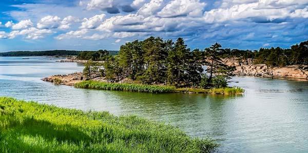 Остров на реке - хорошее место для рыбалки