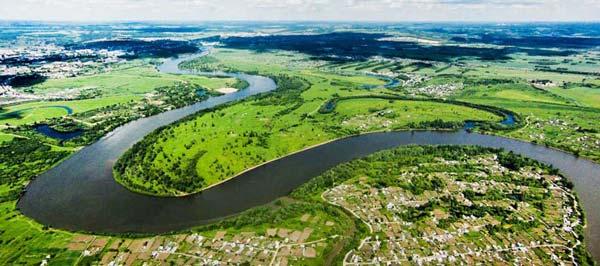 Ровные участки реки